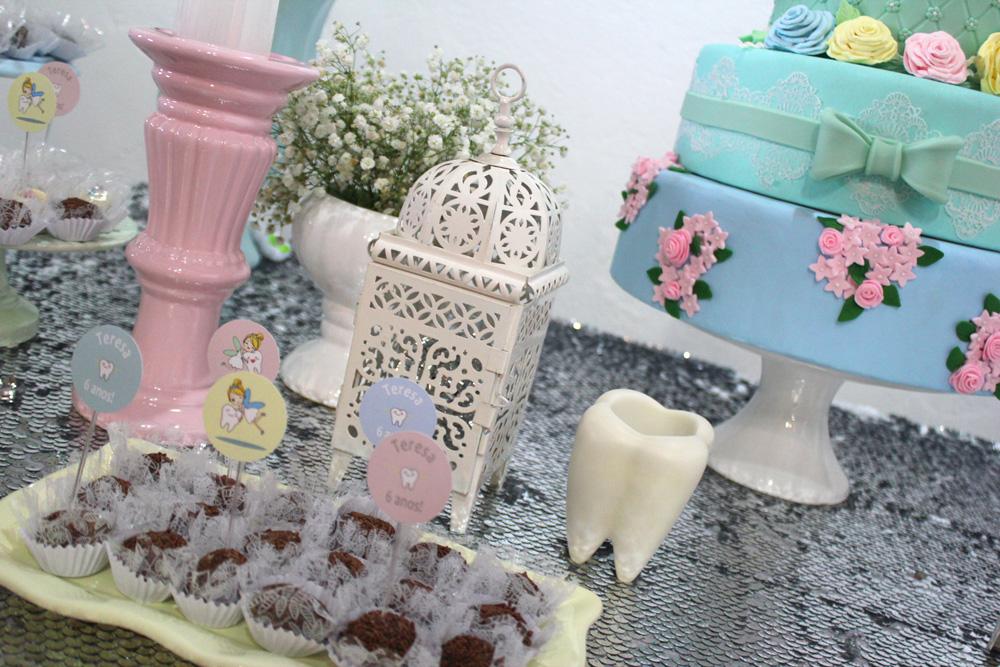 O dentinho presente na decoração da mesa